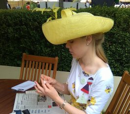 Georgina picking her winners at Ascot