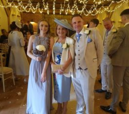 My hat got so many compilments and I can't thank you enough for being part of how special I felt on the day. Paula